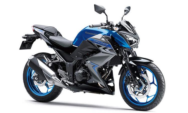 Kawasaki Z300 สีน้ำเงิน