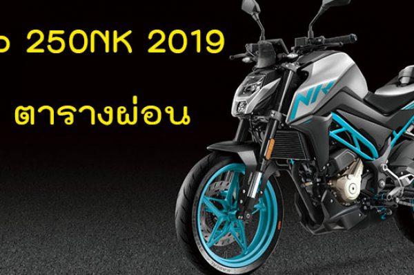 CFMoto 250NK 2019 ราคา 87,500 สเปค ตารางผ่อนดาวน์
