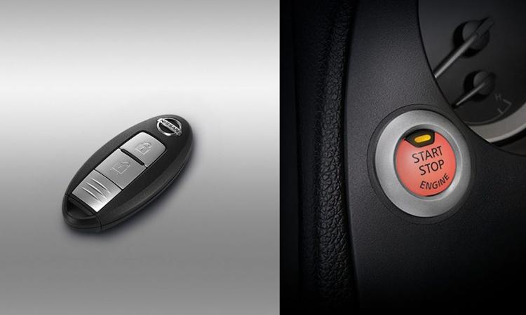 กุญแจ และปุ่มสตาร์ท Nissan navara Black Edition