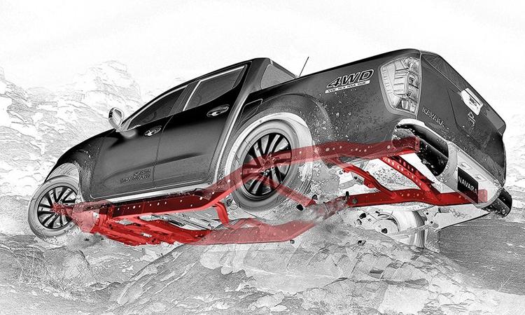 โคลงสร้างตัวถัง Nissan Navara Black Edition
