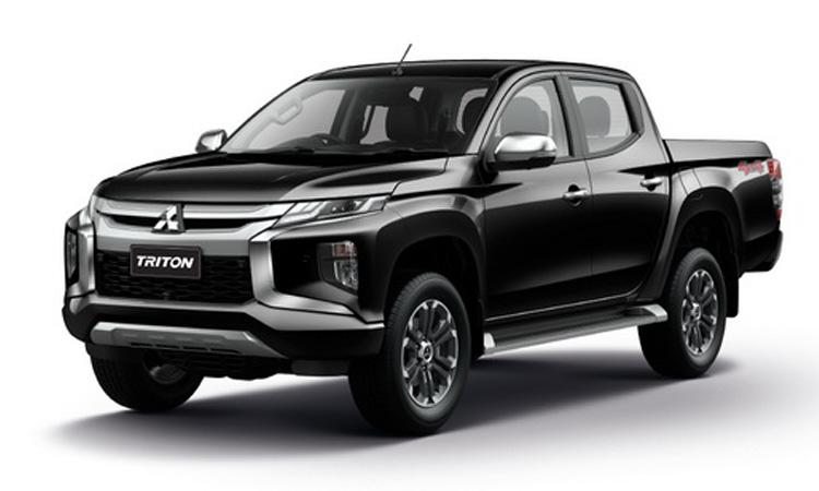 Mitsubishi Triton Double Cab สีดำ Pyreness Black