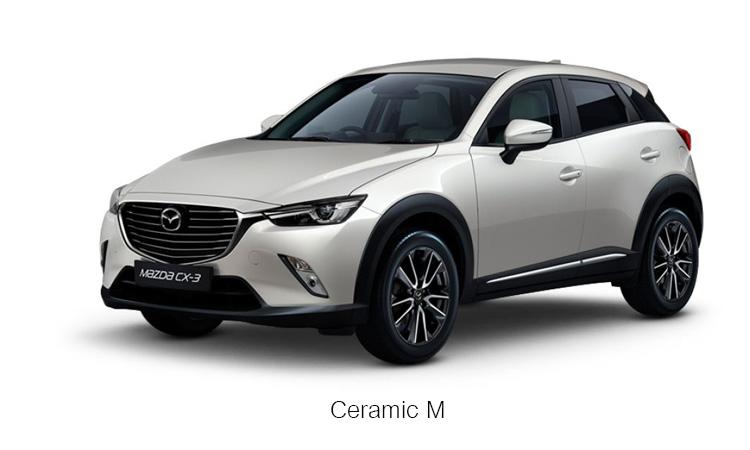 MAZDA CX-3 สีขาว เซรามิก Ceramic M