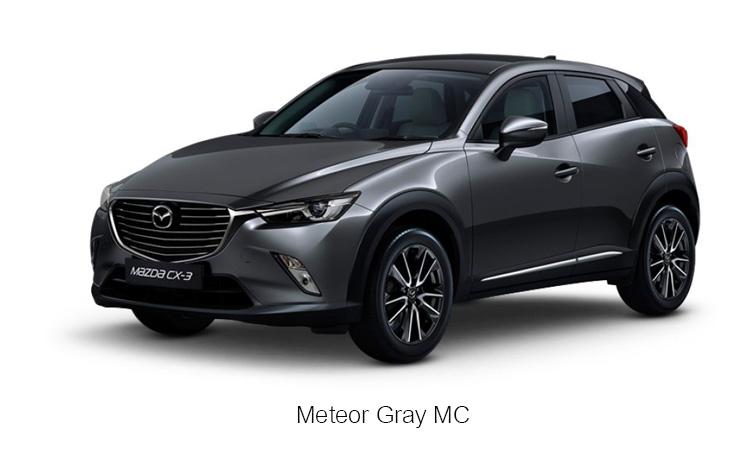 MAZDA CX-3 สีเทา เมทิเออ เกรย์ Meteor Gray MC