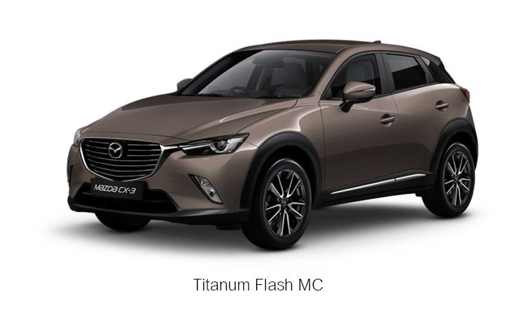 MAZDA CX-3 สีน้ำตาล ไททาเนียม แฟลซ Titanum Flash MC