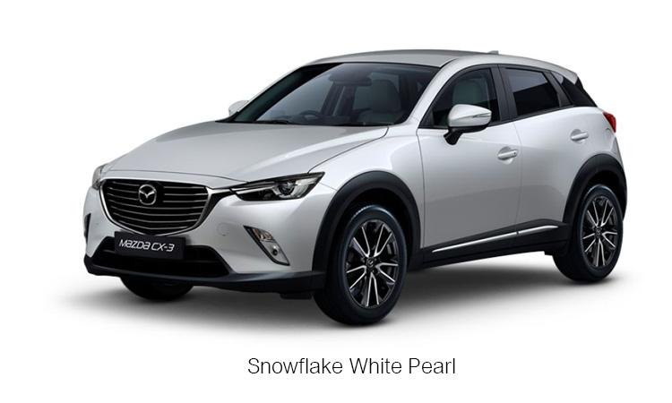 MAZDA CX-3 สีขาวมุก สโนว์เฟลก Snowflake White Pearl