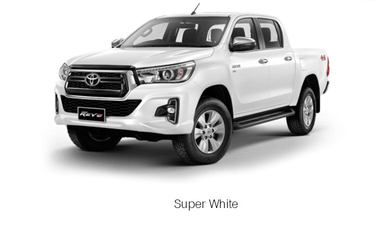TOYOTA HILUX REVO DOUBLE CAB สี Super White