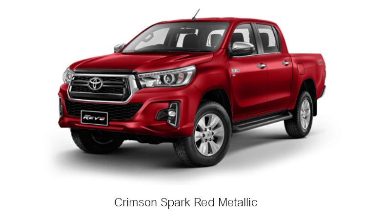 TOYOTA HILUX REVO DOUBLE CAB สี Crimson Spark Red Metallic