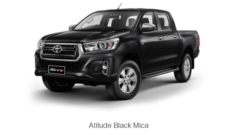 TOYOTA HILUX REVO DOUBLE CAB สี Atitude Black Mica