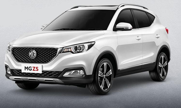 MG ZS SMART 2019สีขาว ARCTIC WHITE