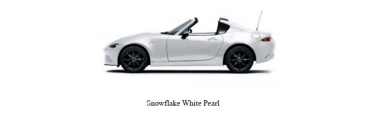 Mazda MX-5 สีขาวมุก Snowflake White Pearl