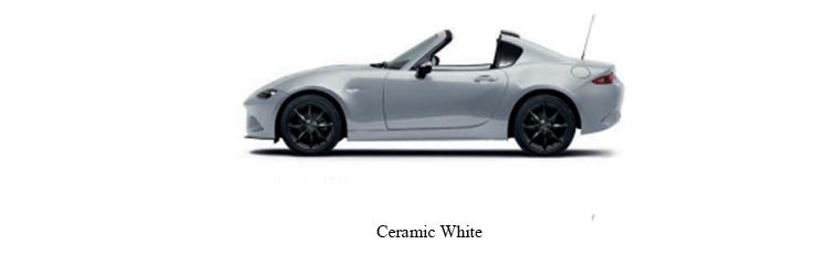 Mazda MX-5 สีขาว Ceramic White