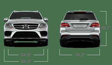 ด้านหน้า - ้านหลัง Mercedes-Benz GLE S 2019