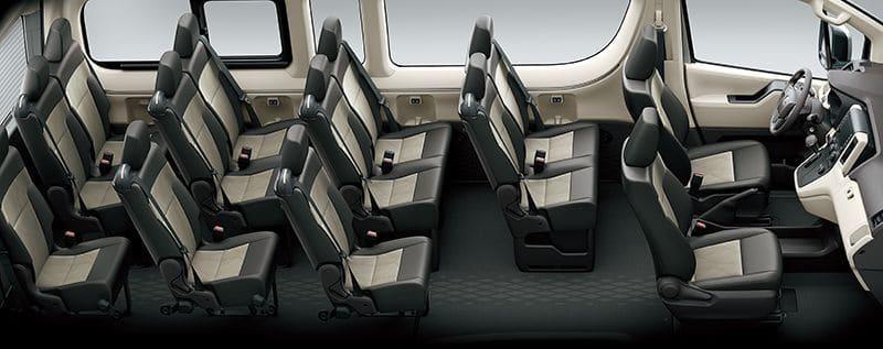 รูปแบบเบาะนั่งToyota Commuter 2019