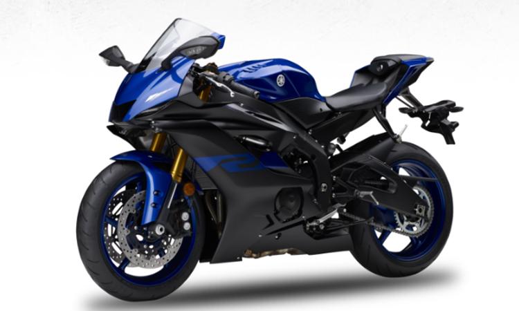 สีตัวถัง Yamaha YZF-R6 สีน้ำเงิน