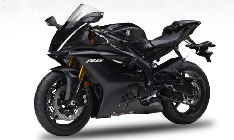 สีตัวถัง Yamaha YZF-R6 สีดำ
