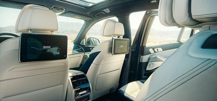 ห้องโดยสารภายในของ BMW X7