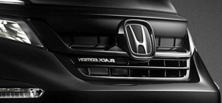 ดีไซน์กระจังหน้า Honda Pilot Black Edition 2020
