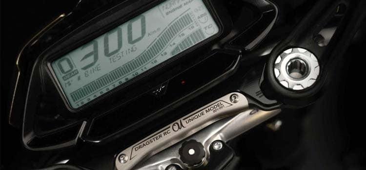 ส่วนบริเวณแผงคอMV Agusta Dragster 800 RC Shining Gold