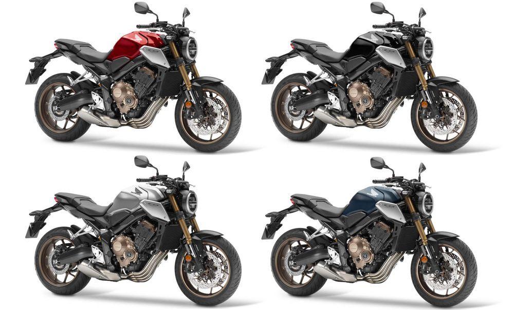 CB650R ทั้งหมด 4 สี ได้แก่ สีแดง, สีเงิน , สีดำและสีน้ำเงิน