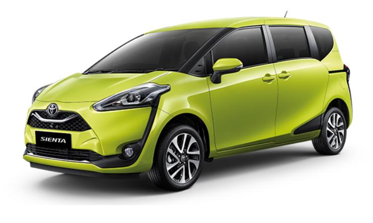 Toyota Sienta สี Citrus Mica Metallic