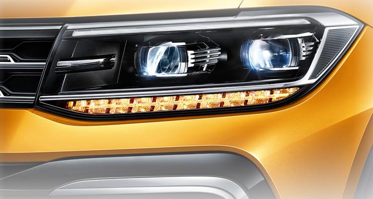 ดีไซน์โคมไฟหน้า Volkswagen T-Cross