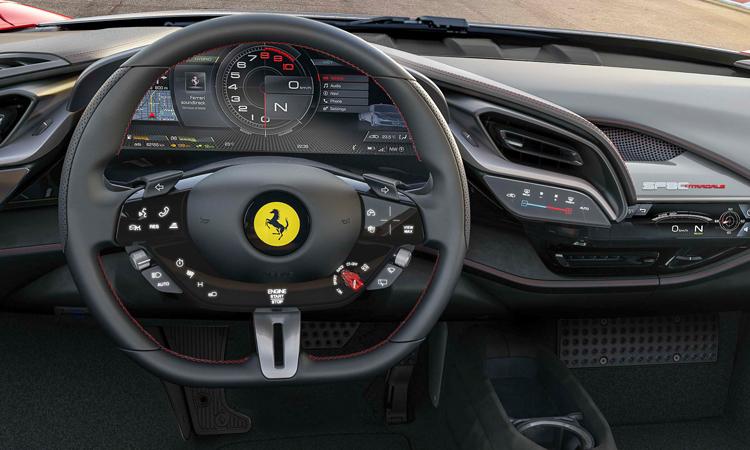ดีไซน์ภายใน Ferrari SF90 Stradale