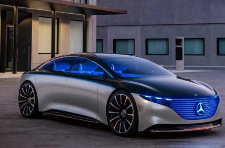 Mercedes-Benz ออกมาโชว์ตัว Vision EQS ต้นแบบรถยนต์ซีดานพลังงานไฟฟ้า