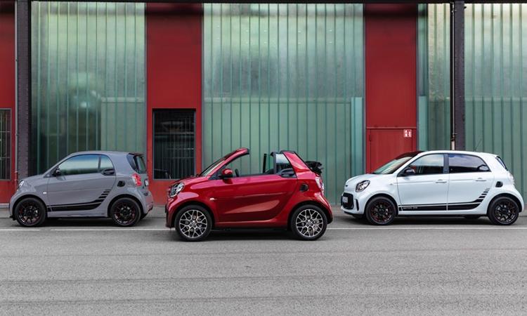 smart EQ fortwo coupé, smart EQ fortwo cabrio และ smart EQ forfour