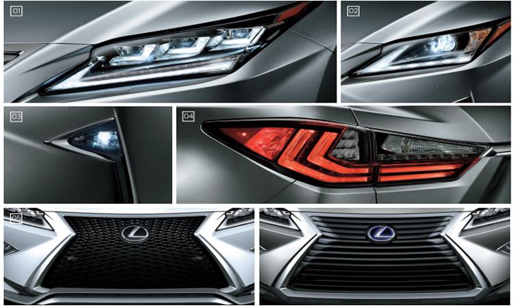 การออกแบบดีไซน์ภายนอก Lexus RX 300 Minorchange