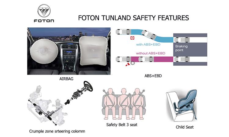 ความปลอดภัย Foton Tunland 2019
