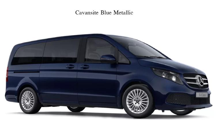 สีตัวถังภายนอกNew Mercedes-Benz V-Class สีน้ำเงิน