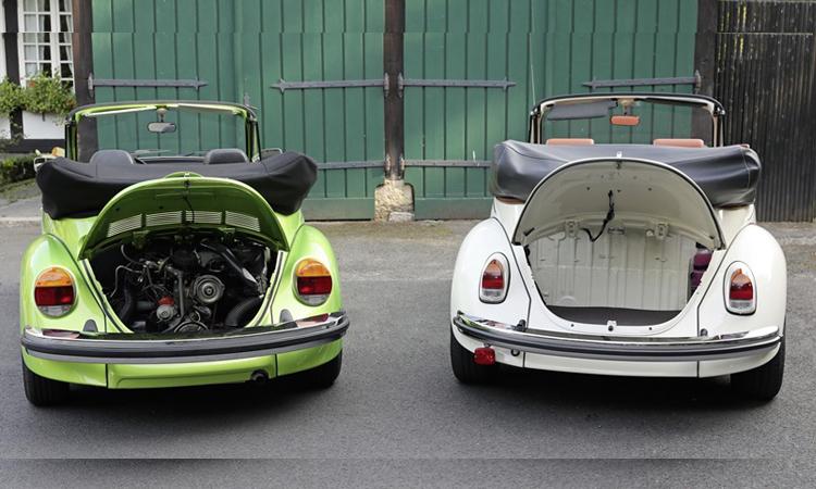 ตำแหน่งวางเครื่องยนต์ Volkswagen e-Beetle Concept