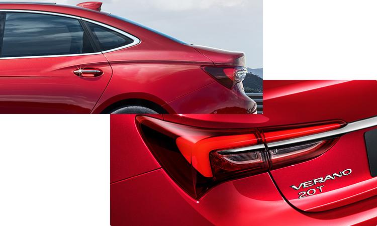 ดีไซน์ด้านหลัง Buick Verano