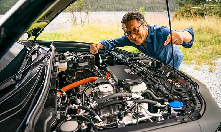 ห้องเครื่อง Mazda รถยนต์ไฟฟ้า Full EV 100%