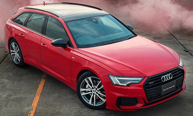 มิติตัวถัง ราคาอย่างเป็นทางการ Audi A6 Avant 45 TFSI quattro S-Line Black Edition