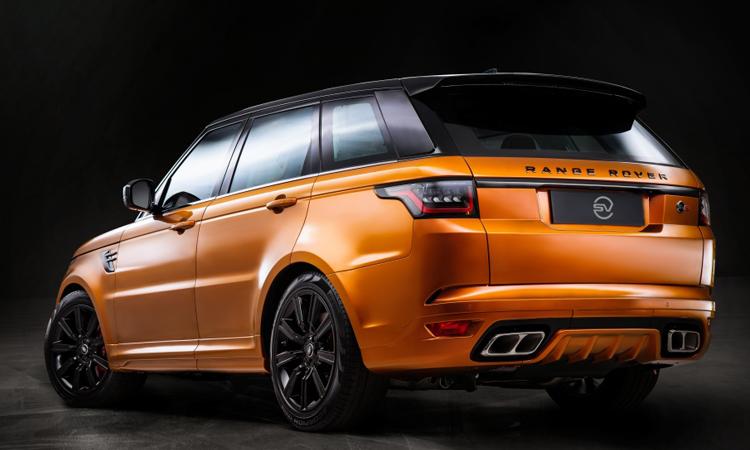 ด้านหลัง Range Rover Sport SVR