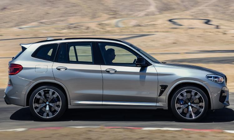 มิติตัวถัง BMW X3 M