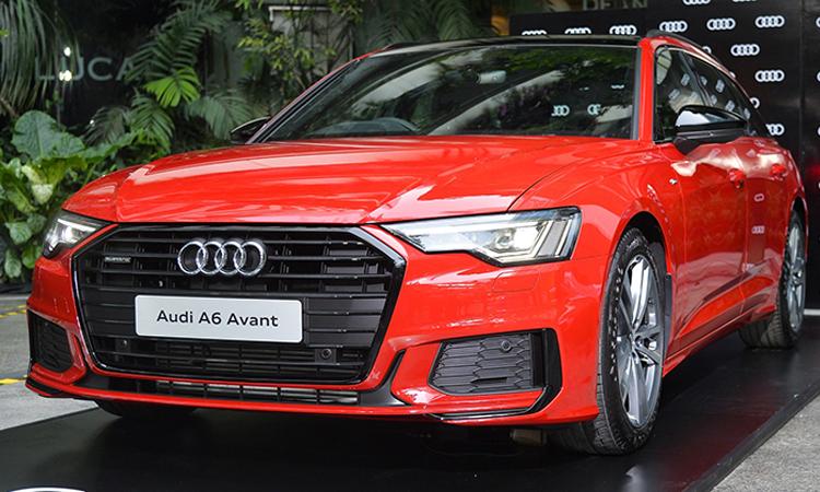 ดีไซน์ด้านหน้า ราคาอย่างเป็นทางการ Audi A6 Avant 45 TFSI quattro S-Line Black Edition