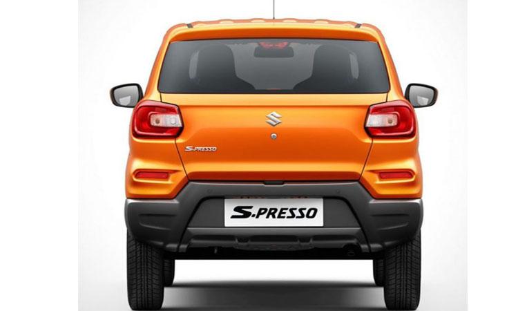 ดีไซน์ด้านหลัง Suzuki S-Presso
