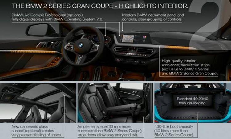 ภายใน BMW 2 series Gran Coupe 2019