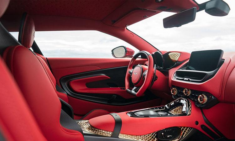 ดีไซน์ภายใน Aston Martin DBS GT Zagato