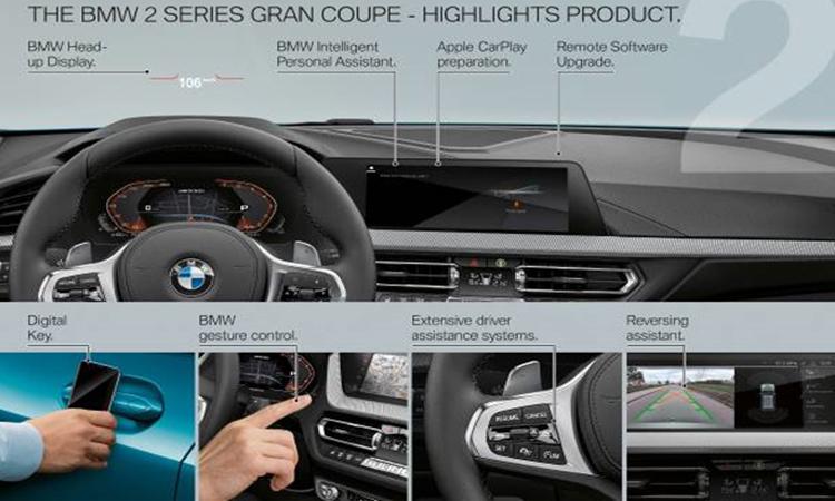 อุปกรณืภายใน BMW 2 series Gran Coupe 2019