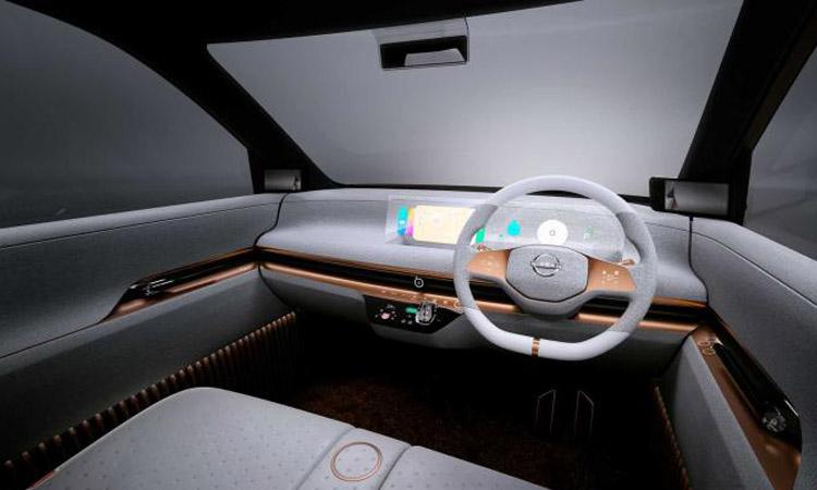 ดีไซน์ภายใน Nissan IMk EV 100%