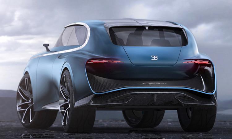 ดีไซน์ด้านหลัง Bugatti Super SUV