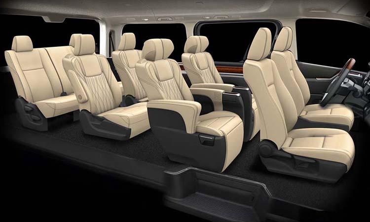 การจัดเบาะนั่ง Toyota GranAce
