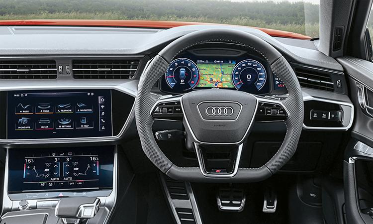 พวงมาลัย ราคาอย่างเป็นทางการ Audi A6 Avant 45 TFSI quattro S-Line Black Edition