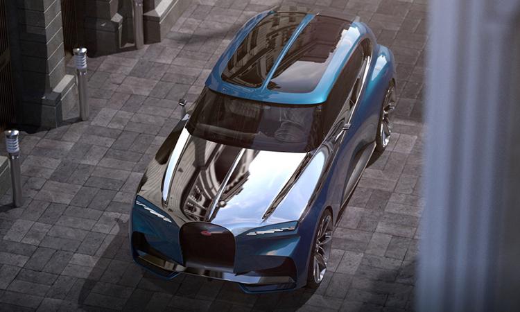 ดีไซน์หลังคา Bugatti Super SUV