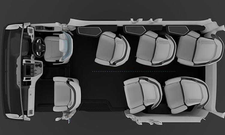 แถวนั่ง Toyota PMCV Concept