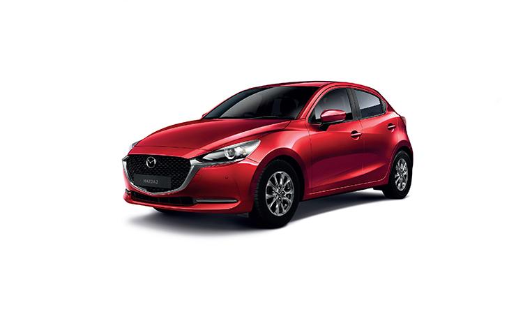 Mazda 2 Minorchange สีแดง Soul Red Crystal