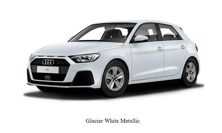 Audi A1 Sportback สีขาว Glacier White Metallic